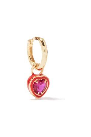 Alison Lou Heart 14kt Gold & Enamel Single Earring - Womens - Multi