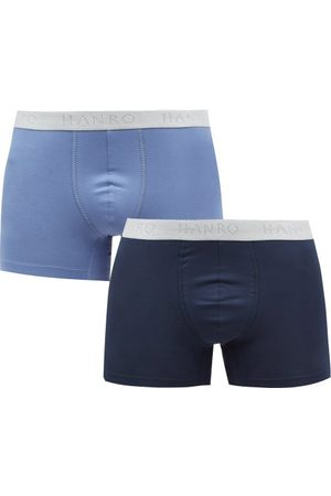 Hanro Pack Of Two Cotton-blend Boxer Briefs - Mens - Multi