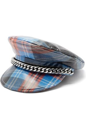 Charles Jeffrey LOVERBOY Trojan Tartan Coated-wool Baker Boy Hat - Womens - Multi