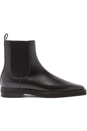 Totême Square-toe Leather Chelsea Boots - Womens