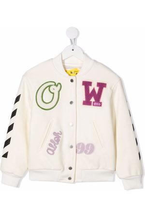 OFF-WHITE Logo-patch varsity jacket