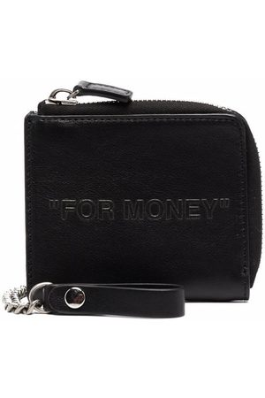 Off-White Debossed quote compact wallet