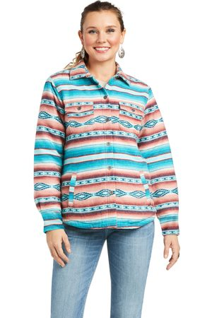 Ariat Women's R.E.A.L. Shacket Shirt Jacket Long Sleeve in Marsala Serape