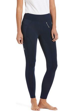 Ariat Women Sports Leggings - Women's Prevail Insulated Full Seat Tight FleeceRiding Breech in Navy Reflective
