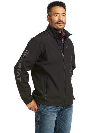 Ariat Men's Logo 2.0 Patriot Softshell Water Resistant Jacket Long Sleeve Fleece in