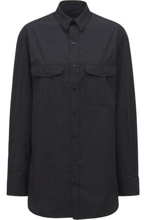 WARDROBE.NYC Cotton Poplin Mini Shirt Dress