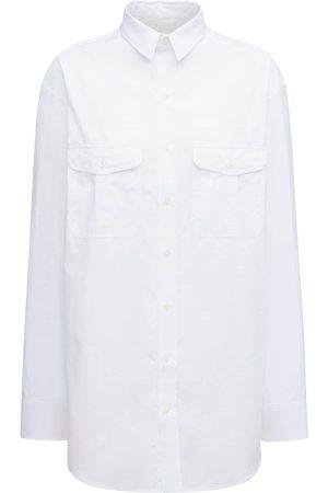 WARDROBE.NYC Women Casual Dresses - Cotton Poplin Mini Shirt Dress