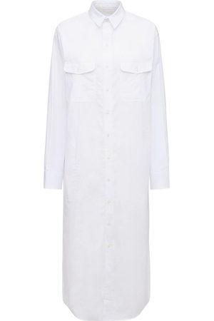 WARDROBE.NYC Women Casual Dresses - Cotton Poplin Midi Shirt Dress