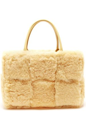 Bottega Veneta Women Handbags - The Arco Small Leather And Shearling Tote Bag - Womens