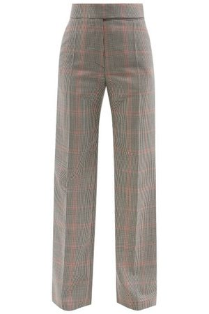 Alexandre Vauthier High-rise Houndstooth Wool-blend Trousers - Womens - Multi
