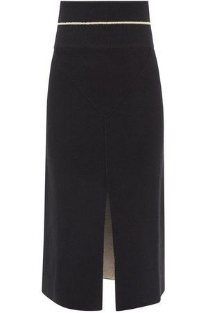 2 MONCLER 1952 - Front Slit Knit Midi Skirt - Womens