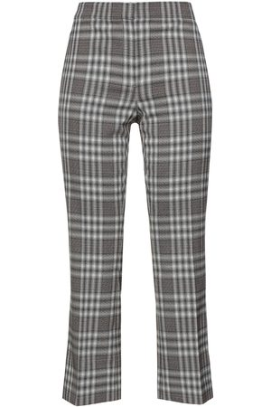 THEORY Women Formal Trousers - Woman Checked Wool-blend Kick-flare Pants Multicolor Size 0