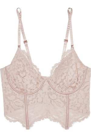 Cosabella Woman Magnolia Corded Lace And Stretch-tulle Bralette Blush Size 32 B