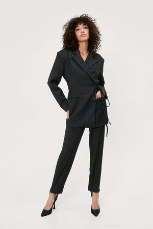 NASTY GAL Womens Stirrup Detail Straight Leg Tailored trousers