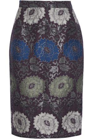 Etro Woman Brocade Pencil Skirt Dark Size 40
