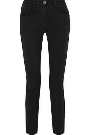 ETRO Woman Embroidered Mid-rise Skinny Jeans Size 27