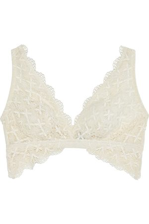 Cosabella Women Bras - Woman Alessia Tulle-trimmed Crocheted Lace Soft-cup Triangle Bra Size L