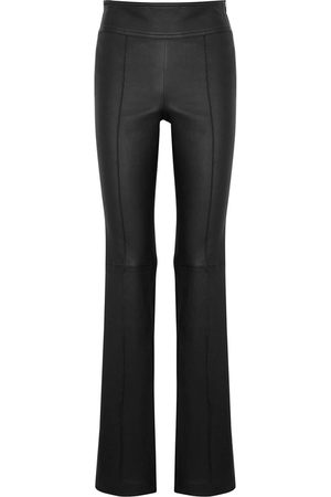 Helmut Lang Leather Bootcut Trousers