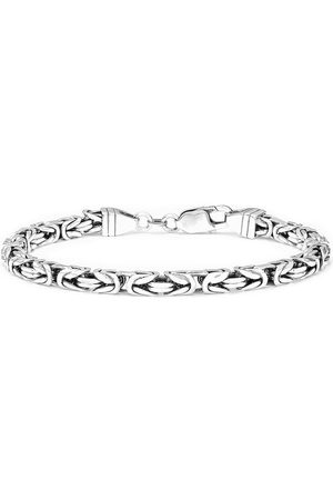 The Love Silver Collection Sterling Gunmetal Men'S Byzantine Bracelet 8.5 Inches