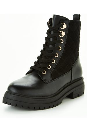 V by Very Wide Fit Lace Up Boot