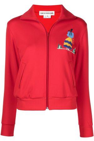 Comme Des Garçons Girl Graphic-print zipped sweatshirt