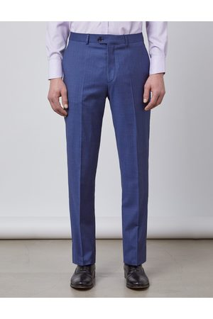 Hawes & Curtis Men Formal Trousers - Men's Stripe Tailored Fit Italian Suit Trousers in