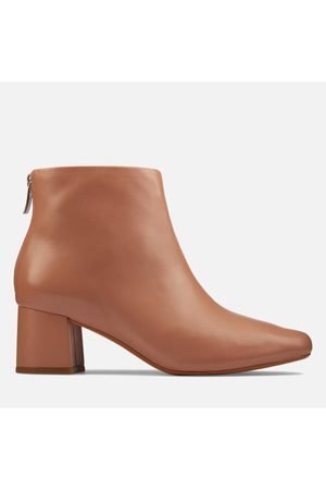 Clarks Women Ankle Boots - Women's Sheer 55 Zip Leather Heeled Ankle Boots