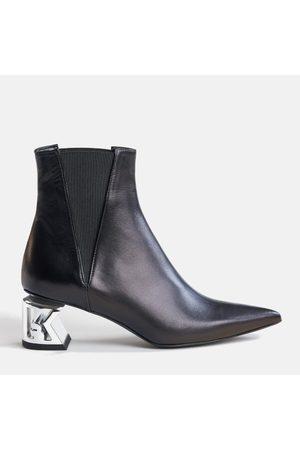 Karl Lagerfeld Women's K-Blok Leather Heeled Chelsea Boots