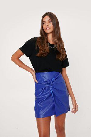 NASTY GAL Womens Premium Pu Knot Mini Skirt