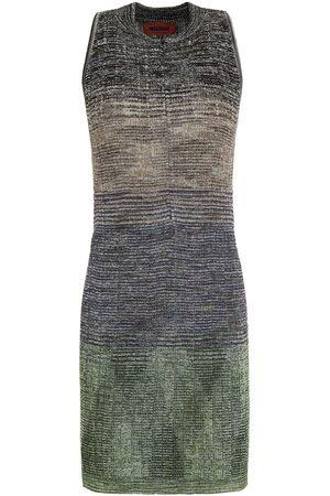 MISSONI Woman Metallic Ribbed-knit Mini Dress Size 38