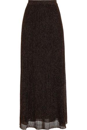 MISSONI Woman Metallic Ribbed-knit Maxi Skirt Size 40