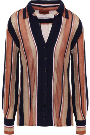 Missoni Woman Striped Knitted Shirt Copper Size 40