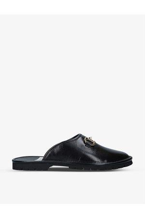 Gucci Men Sandals - Elea horsebit-embellished leather mules