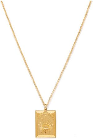 TOM WOOD Tarot Temperance 9kt -plated Silver Necklace - Mens
