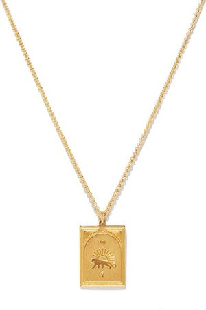 TOM WOOD Men Necklaces - Tarot Strength 9kt -plated Silver Necklace - Mens