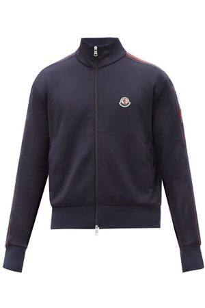 Moncler Logo-patch Jersey Track Top - Mens - Navy