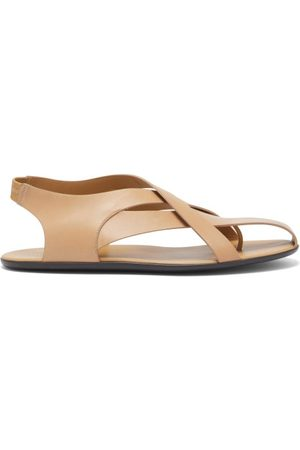 The Row Spider Leather Slingback Sandals - Womens - Tan