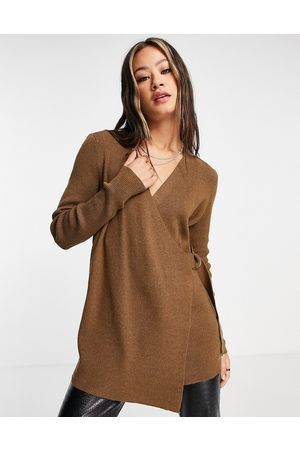 Object Wrap cardigan with buckle detail in