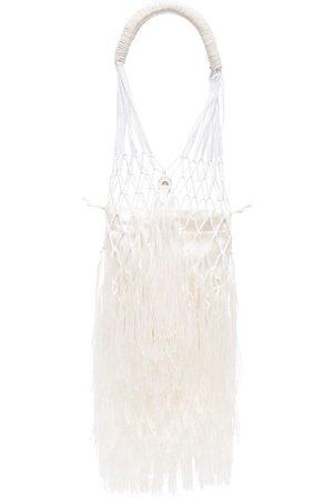 PETIT KOURAJ Women Handbags - Daye fringed-edge tote batg - Neutrals