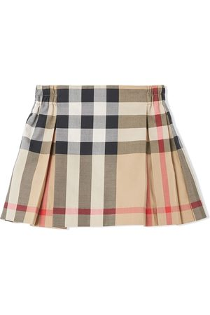 Burberry Check-print pleated skirt