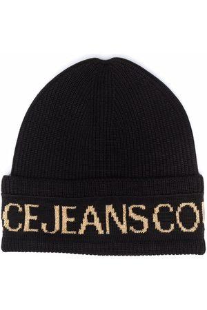 Versace Jeans Couture Men Beanies - Intarsia-knit logo beanie