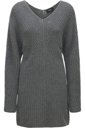 THEORY Sculpted Wool & Cashmere Knit Mini Dress