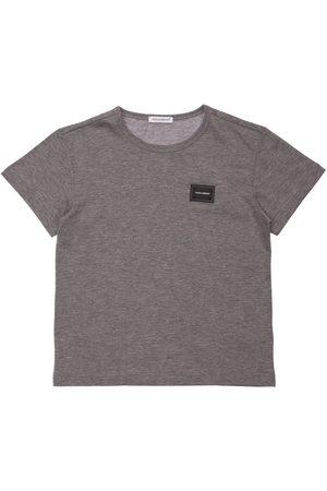 DOLCE & GABBANA Logo Patch Cotton T-shirt