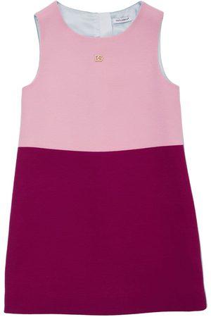 DOLCE & GABBANA Logo Wool Dress