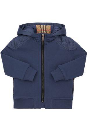 Burberry Boys Sweatshirts - Zip-up Cotton Sweatshirt Hoodie