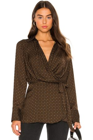 Free People Arlo Wrap Top in ,Brown. Size M, S, XS.