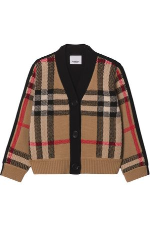 Burberry Kids Wool-Cashmere Vintage Check Cardigan