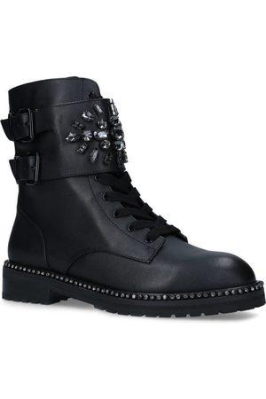 Kurt Geiger Leather Stoop Biker Boots