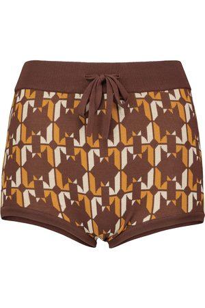 Dodo Bar Or Jacquard low-rise knit shorts