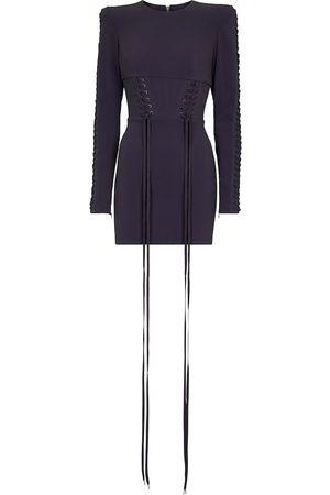 Alex Perry Brody stretch-crêpe corset minidress